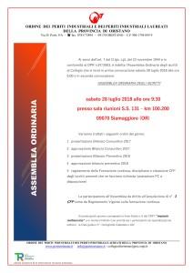 locandina assemblea ordinaria 2018