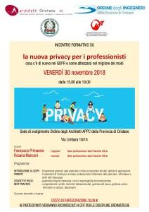 la nuova privacy per i professionisti