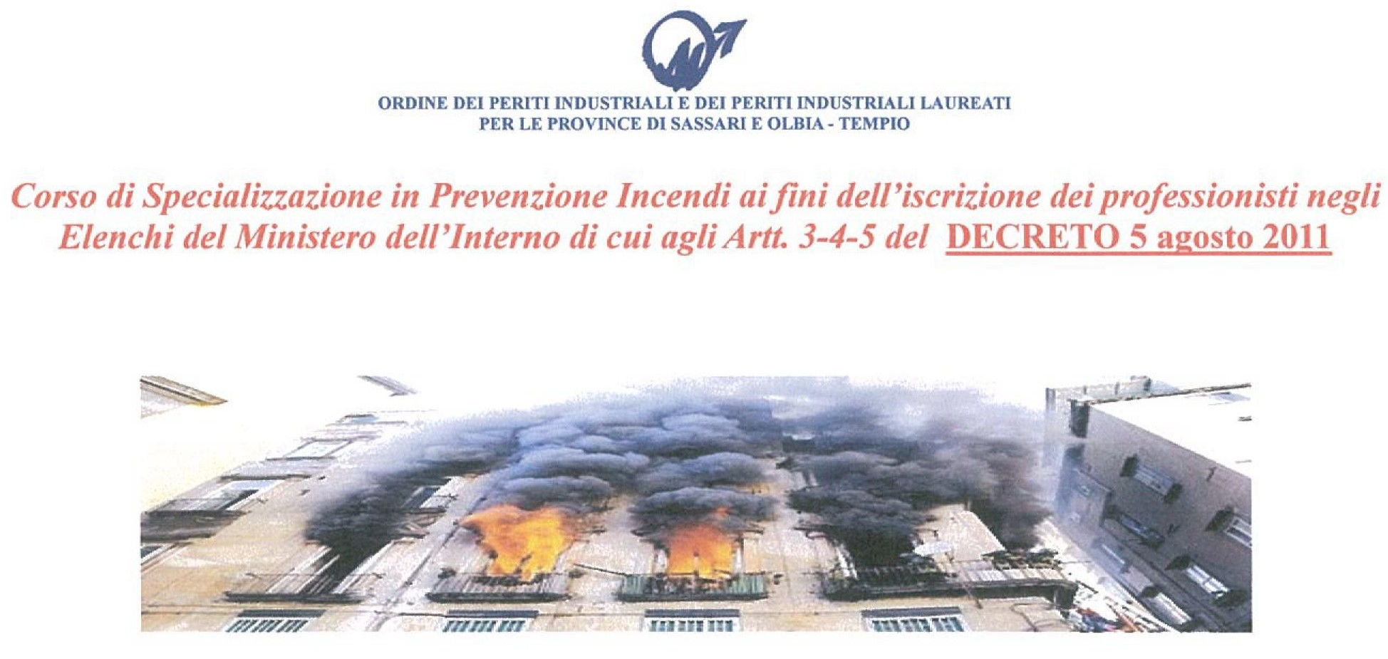 Corso base professionisti antincendio 120h – Sassari