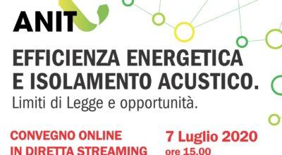 Anit evento per la Sardegna : efficienza energetica e isolamento acustico. Limiti di legge e opportunità